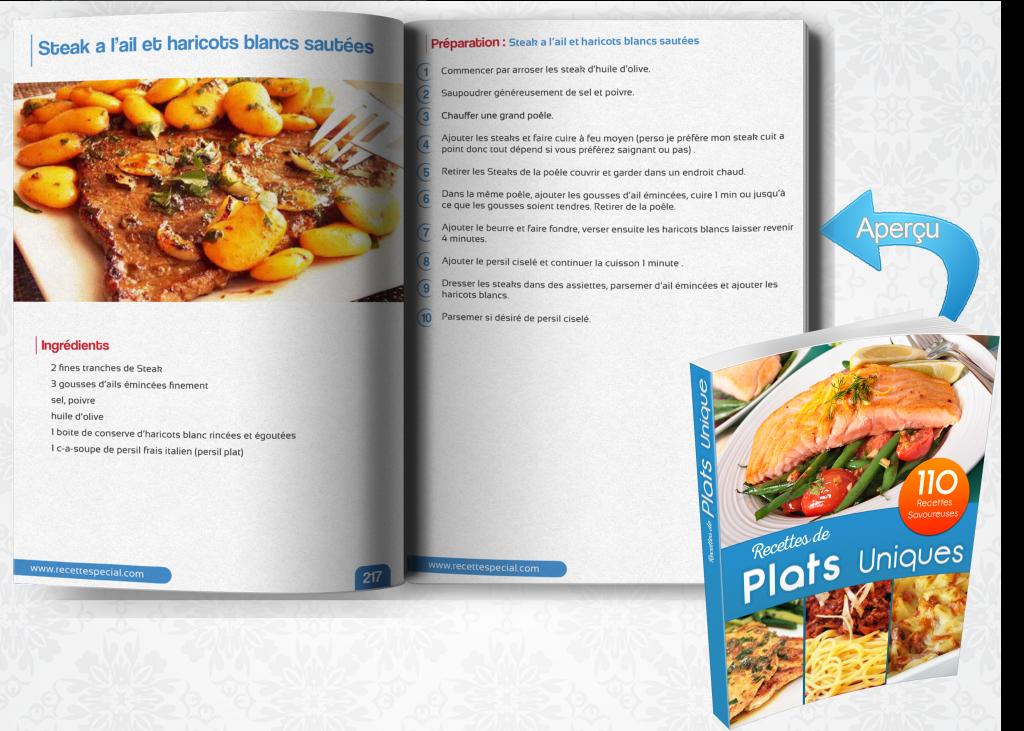 Livre 110 recettes de plats uniques recette special for Plat unique convivial
