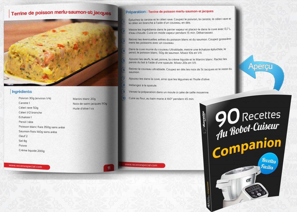 livre 90 recettes au robot cuiseur companion recette special. Black Bedroom Furniture Sets. Home Design Ideas
