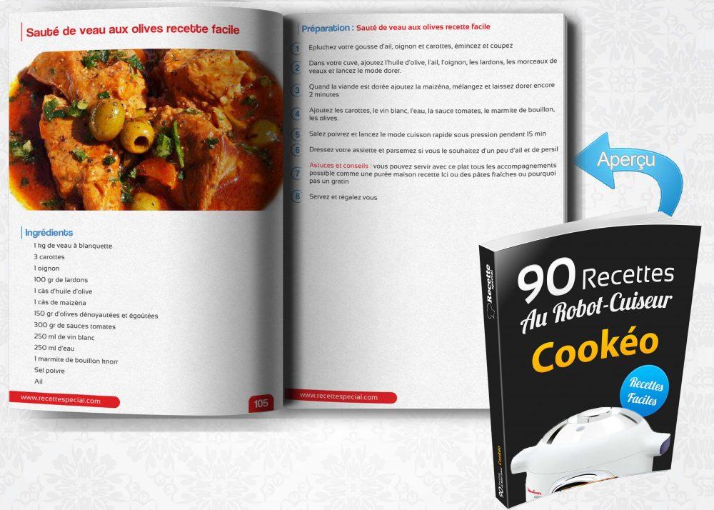 livre 90 recettes au robot cuiseur cook o recette special. Black Bedroom Furniture Sets. Home Design Ideas