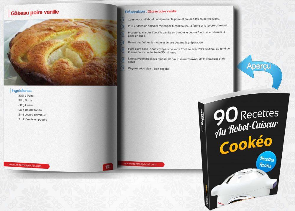 Livre 90 recettes au robot cuiseur cook o recette special for Livre cuisiner au robot cuiseur