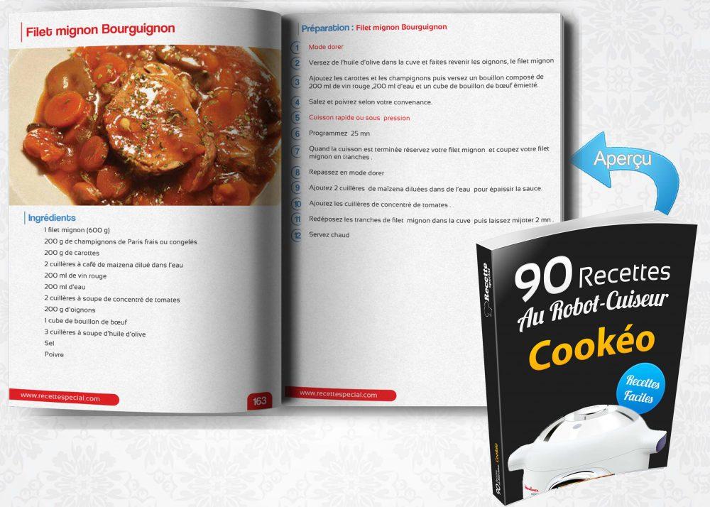 Livre 90 Recettes Au Robot Cuiseur Cookeo