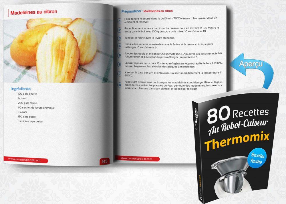 livre 80 recettes au robot cuiseur thermomix recette special. Black Bedroom Furniture Sets. Home Design Ideas