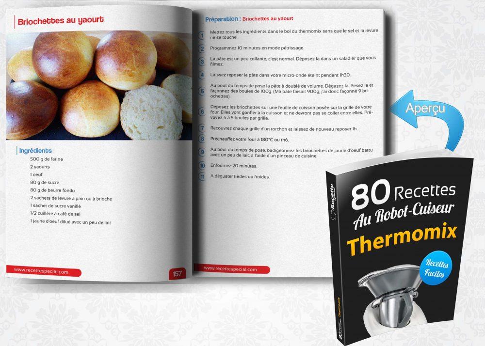 Livre 80 recettes au robot cuiseur thermomix recette special for Livre cuisiner au robot cuiseur