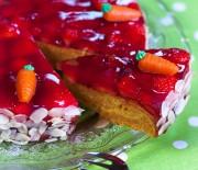 Gâteau aux carottes et aux fraises