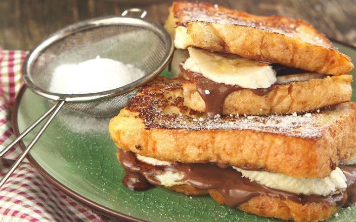 Sandwich De Pain Perdu Au Nutella Et Banane Recette Special