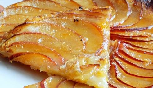 tarte fine aux pommes caram lis es recette special. Black Bedroom Furniture Sets. Home Design Ideas