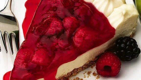 Cheesecake et son coulis de fraises