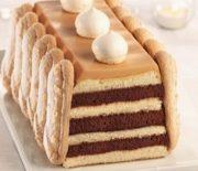 Bûche chocolat caramel