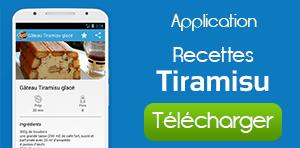 Application Recettes Tiramisu