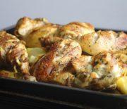 Cuisses de poulet et pomme de terre au four