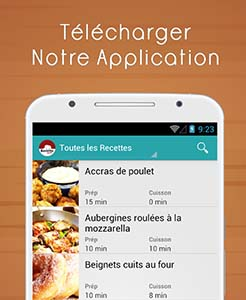 Application Recettes Special