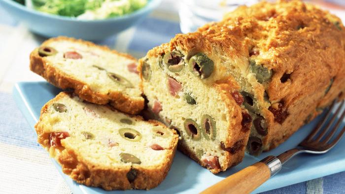 Cake sal aux olives et au jambon recette special - Recette cake aux olives et jambon ...