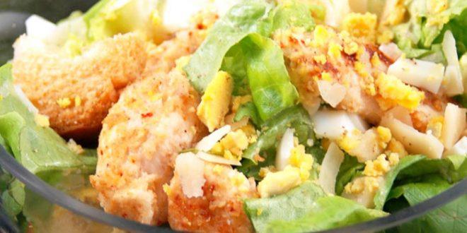salade c sar au poulet light recette special. Black Bedroom Furniture Sets. Home Design Ideas